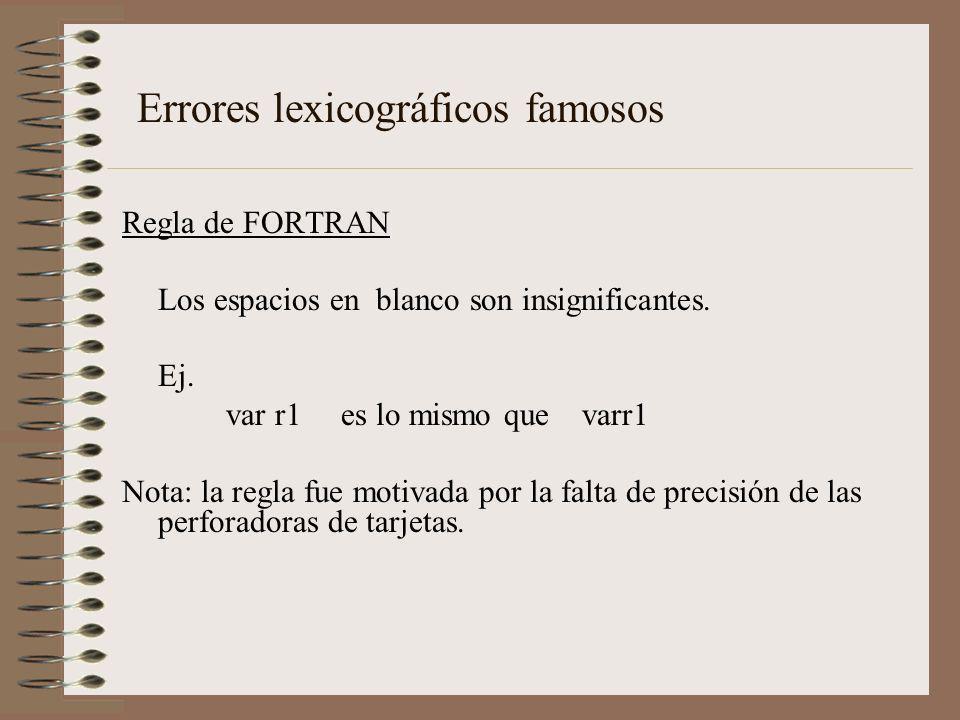 Errores lexicográficos famosos