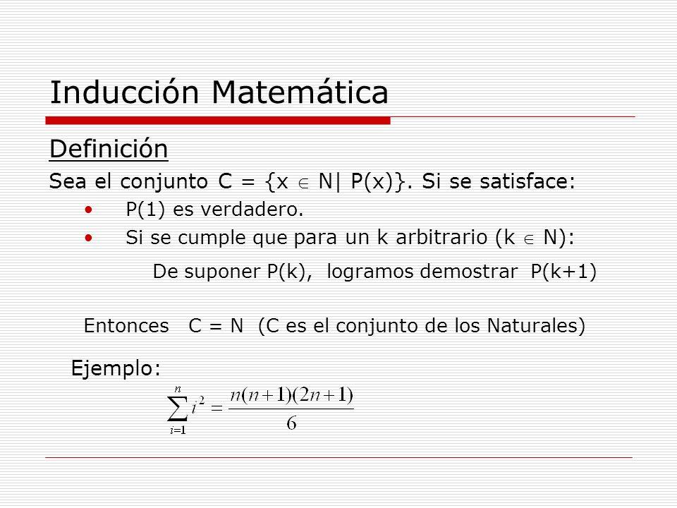 Inducción Matemática Definición