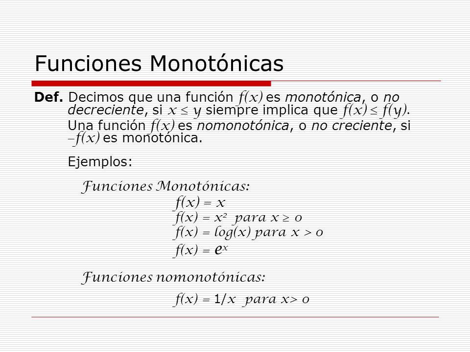Funciones Monotónicas