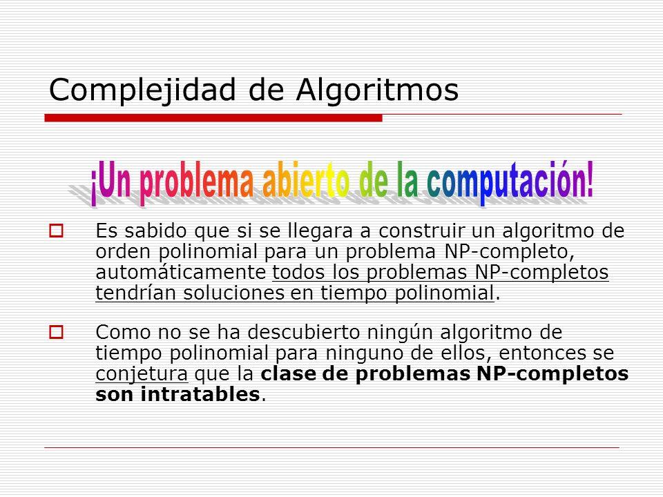 Complejidad de Algoritmos