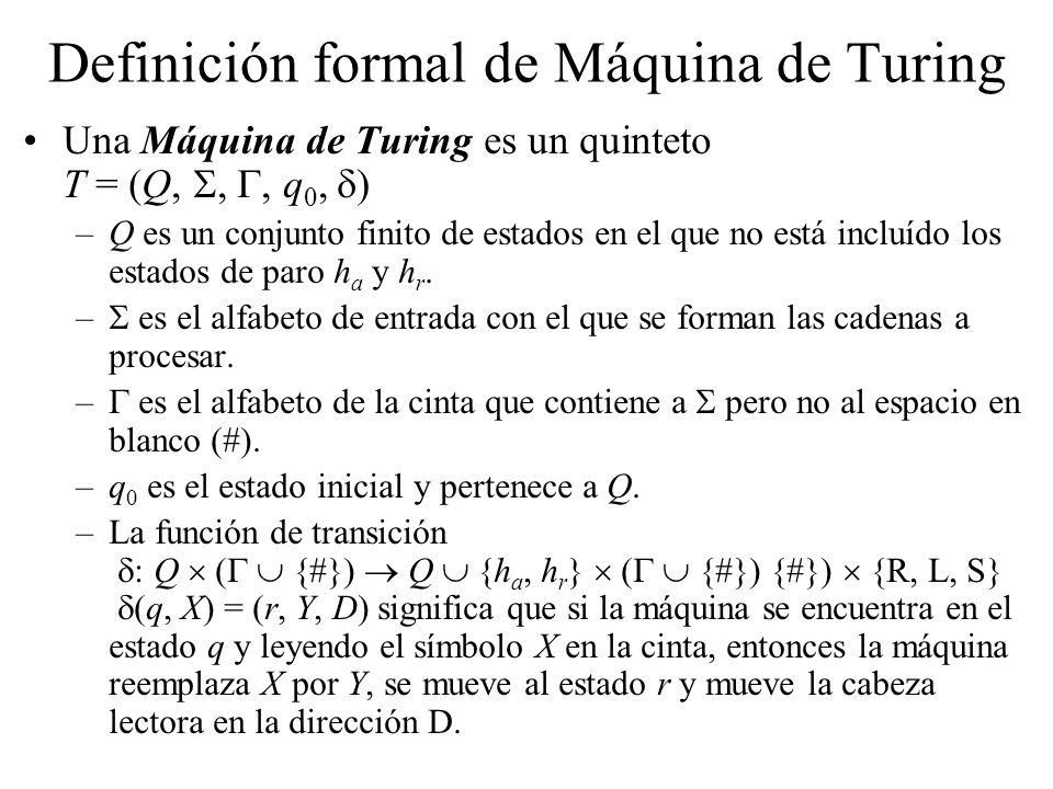 Definición formal de Máquina de Turing