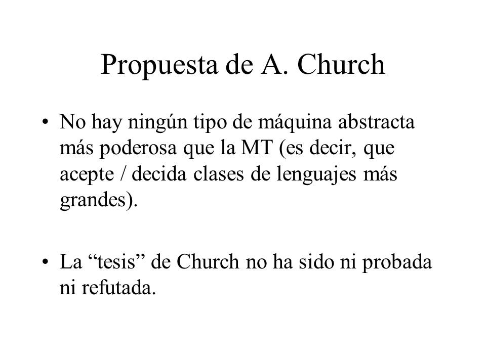 Propuesta de A. Church