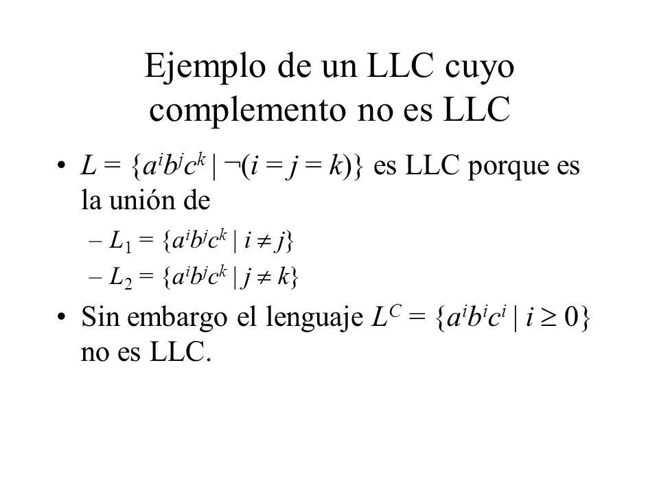 Ejemplo de un LLC cuyo complemento no es LLC