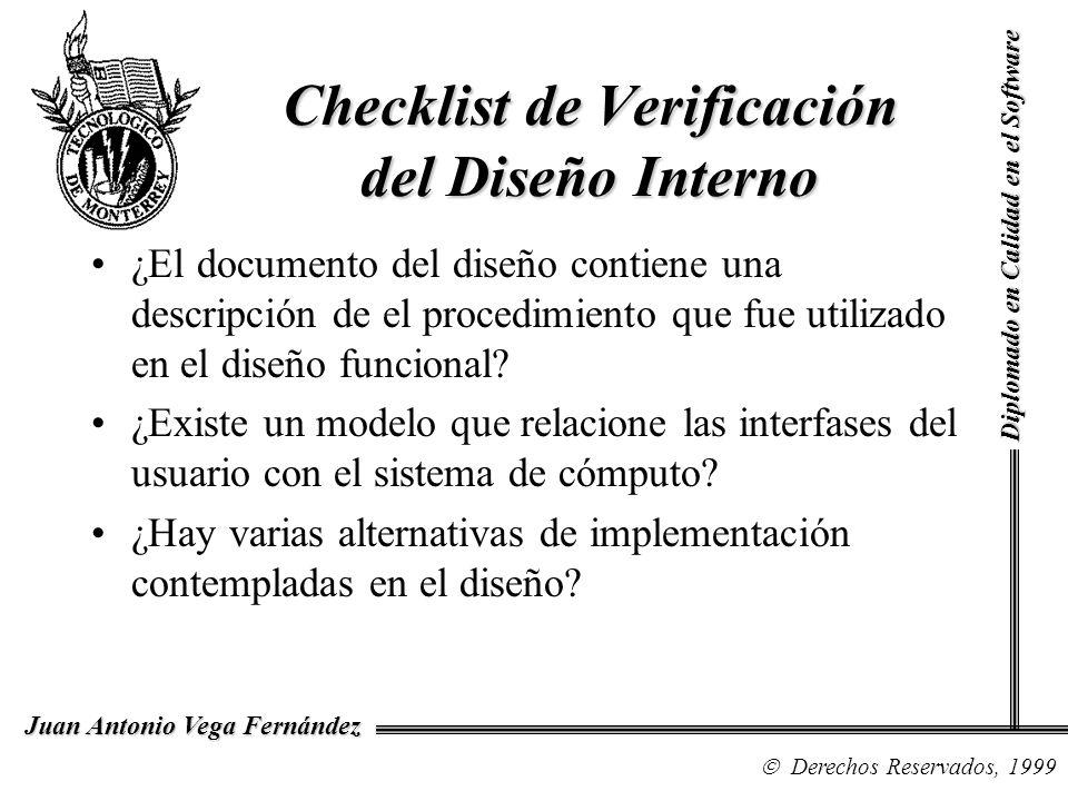 Checklist de Verificación del Diseño Interno