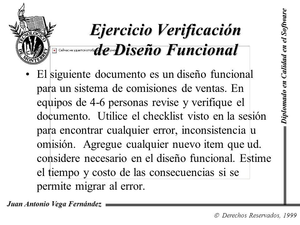Ejercicio Verificación de Diseño Funcional