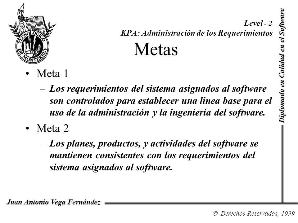 Level - 2 KPA: Administración de los Requerimientos Metas