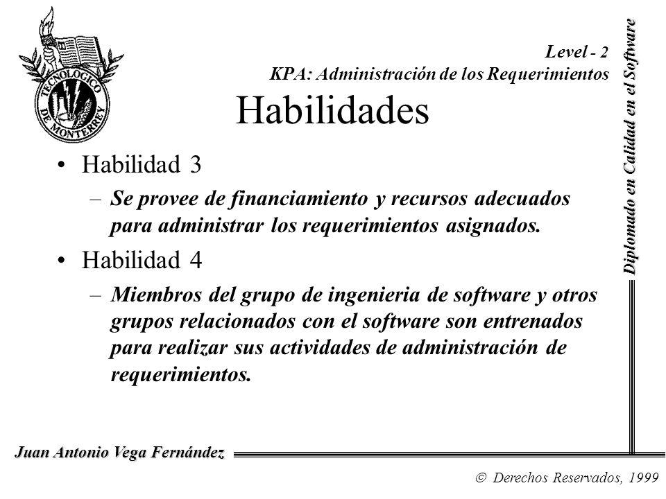 Level - 2 KPA: Administración de los Requerimientos Habilidades