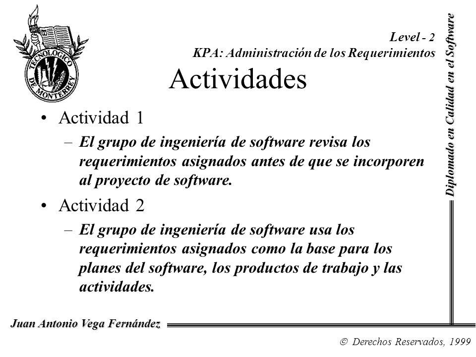 Level - 2 KPA: Administración de los Requerimientos Actividades