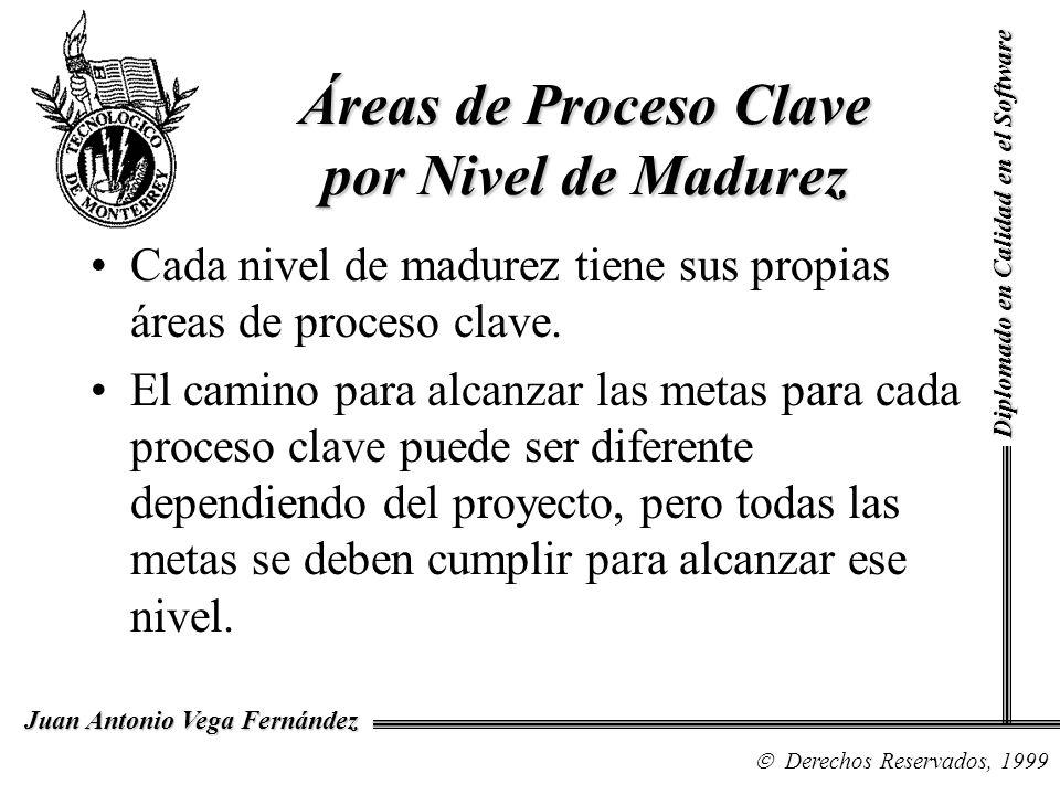 Áreas de Proceso Clave por Nivel de Madurez