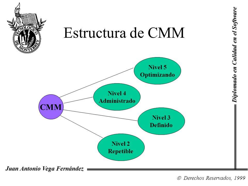 Estructura de CMM CMM Diplomado en Calidad en el Software Nivel 5