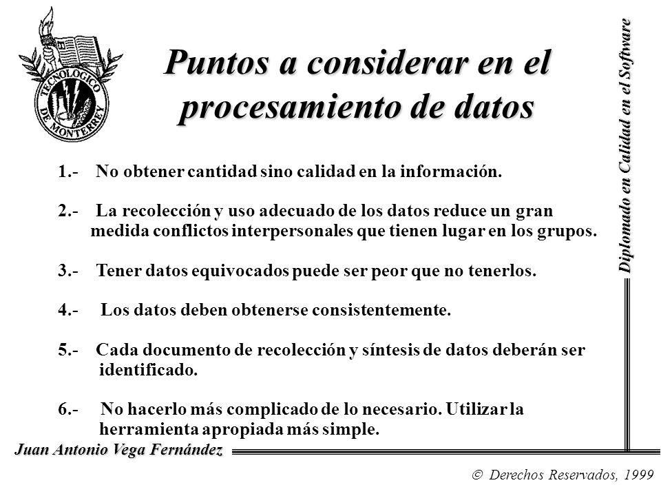 Puntos a considerar en el procesamiento de datos