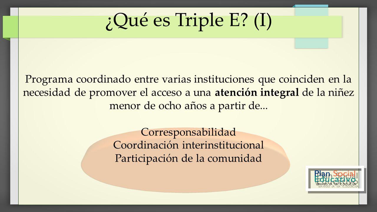 ¿Qué es Triple E (I)
