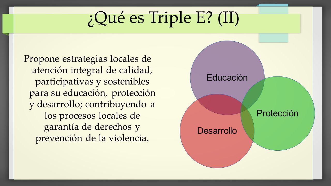 ¿Qué es Triple E (II) Educación.