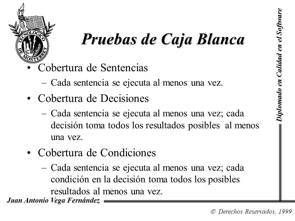 Pruebas de Caja Blanca Cobertura de Sentencias Cobertura de Decisiones