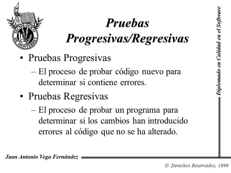 Pruebas Progresivas/Regresivas