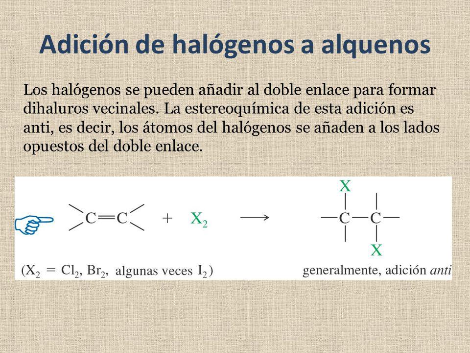 Adición de halógenos a alquenos
