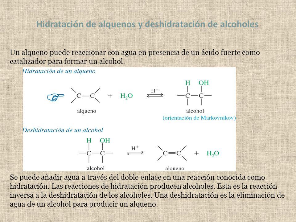 Hidratación de alquenos y deshidratación de alcoholes