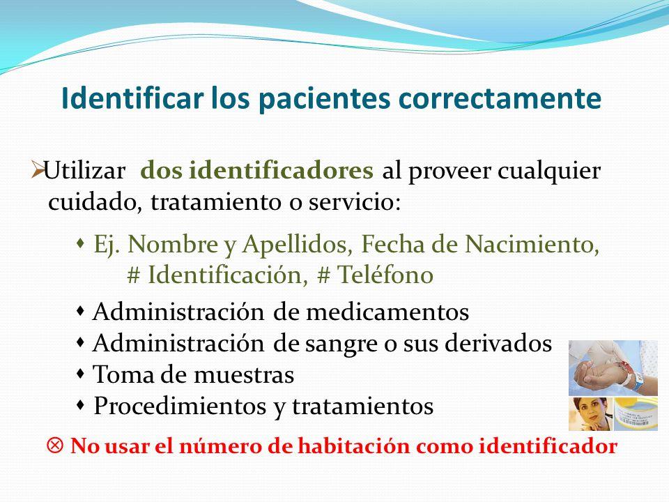 Identificar los pacientes correctamente