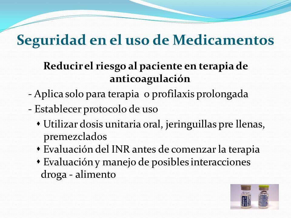 Seguridad en el uso de Medicamentos