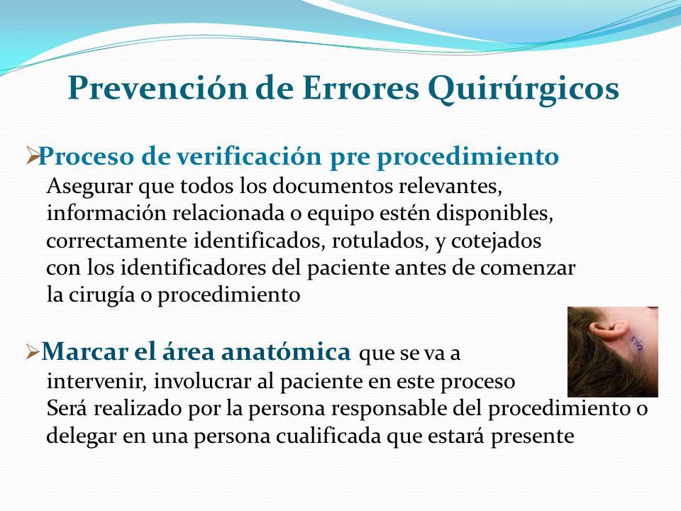 Prevención de Errores Quirúrgicos