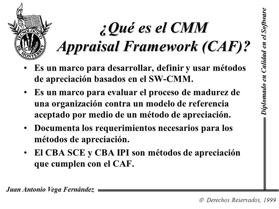 ¿Qué es el CMM Appraisal Framework (CAF)