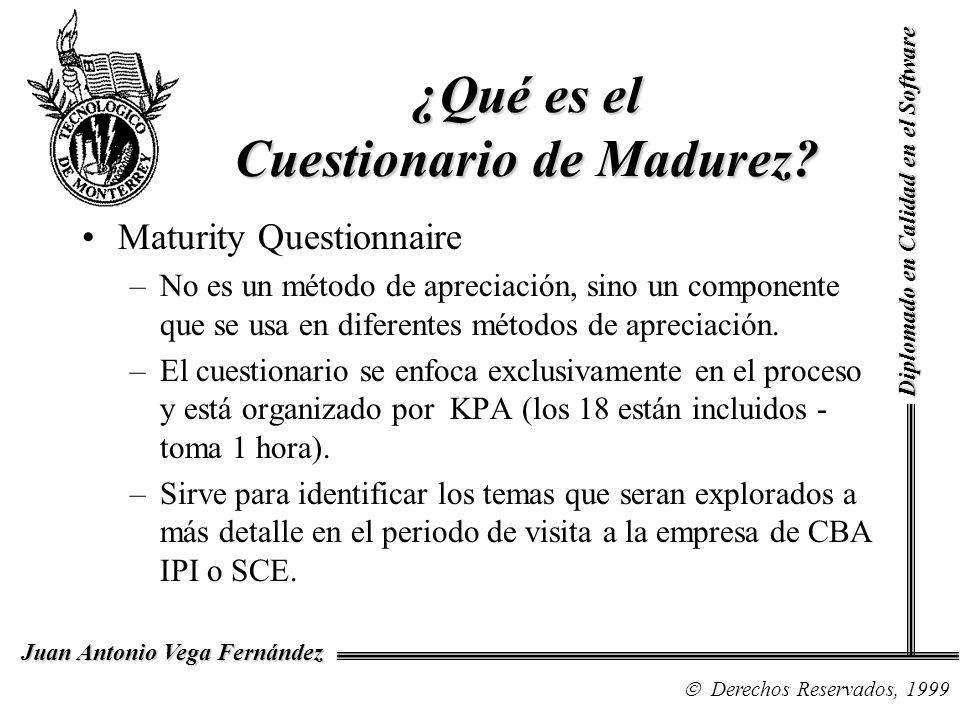 ¿Qué es el Cuestionario de Madurez