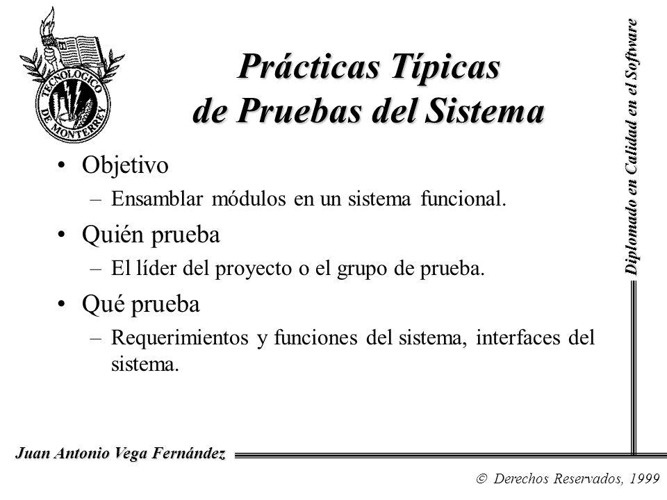 Prácticas Típicas de Pruebas del Sistema