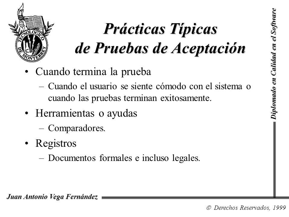 Prácticas Típicas de Pruebas de Aceptación