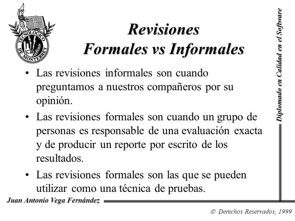 Revisiones Formales vs Informales