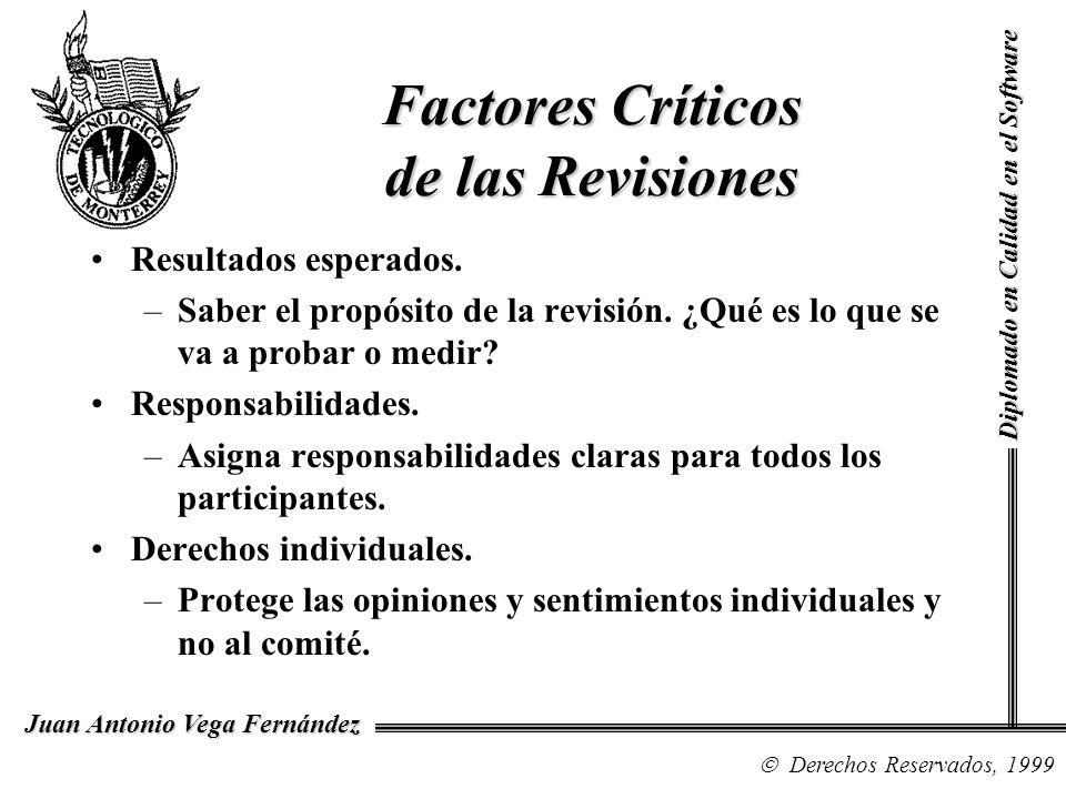 Factores Críticos de las Revisiones