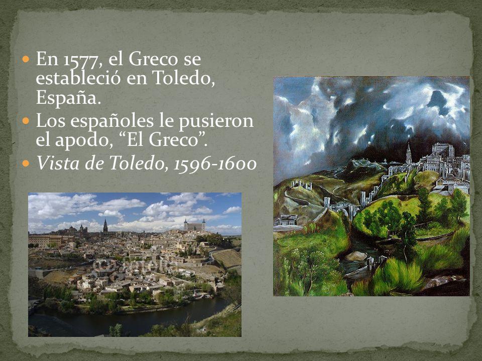 En 1577, el Greco se estableció en Toledo, España.