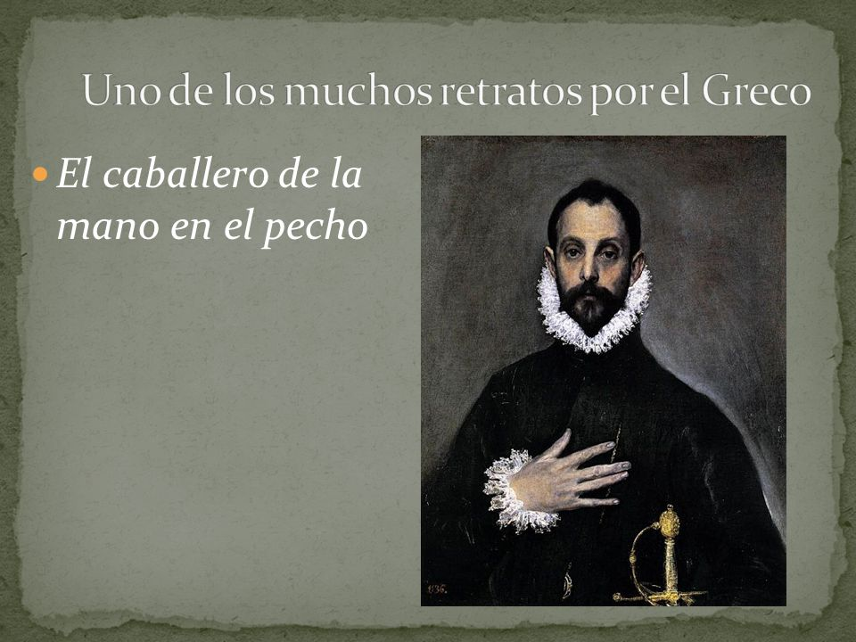 Uno de los muchos retratos por el Greco