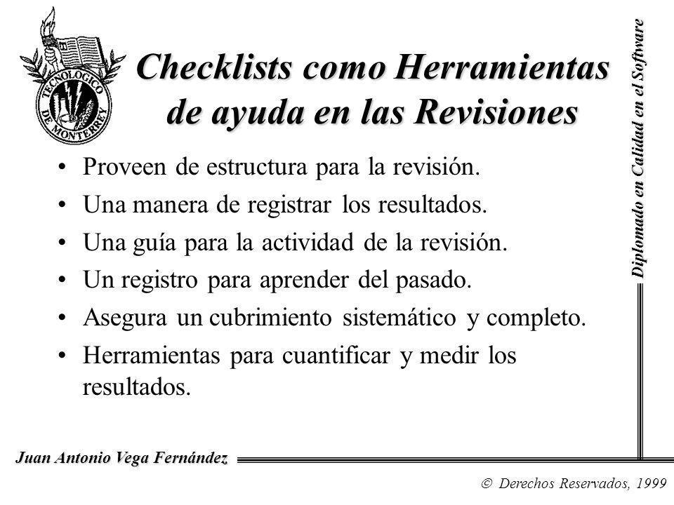 Checklists como Herramientas de ayuda en las Revisiones