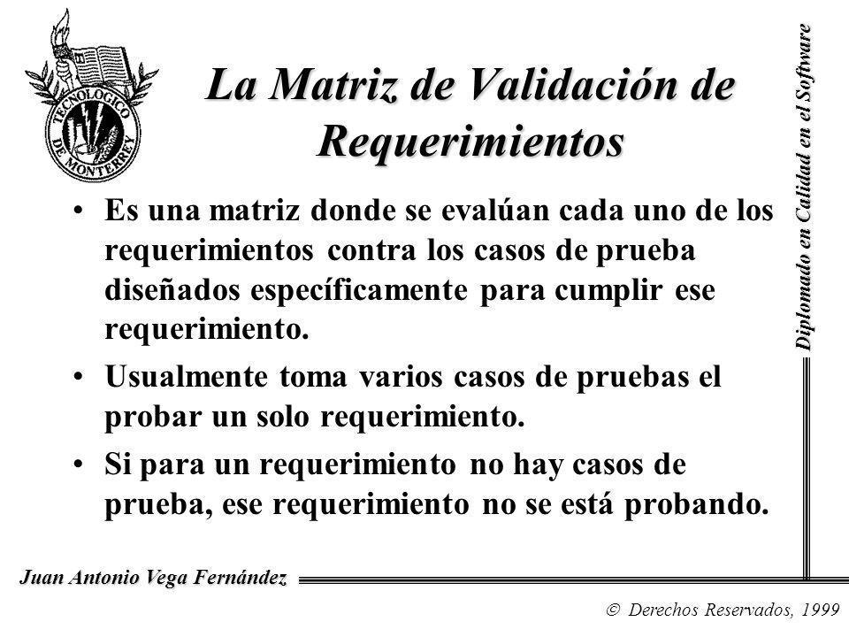 La Matriz de Validación de Requerimientos