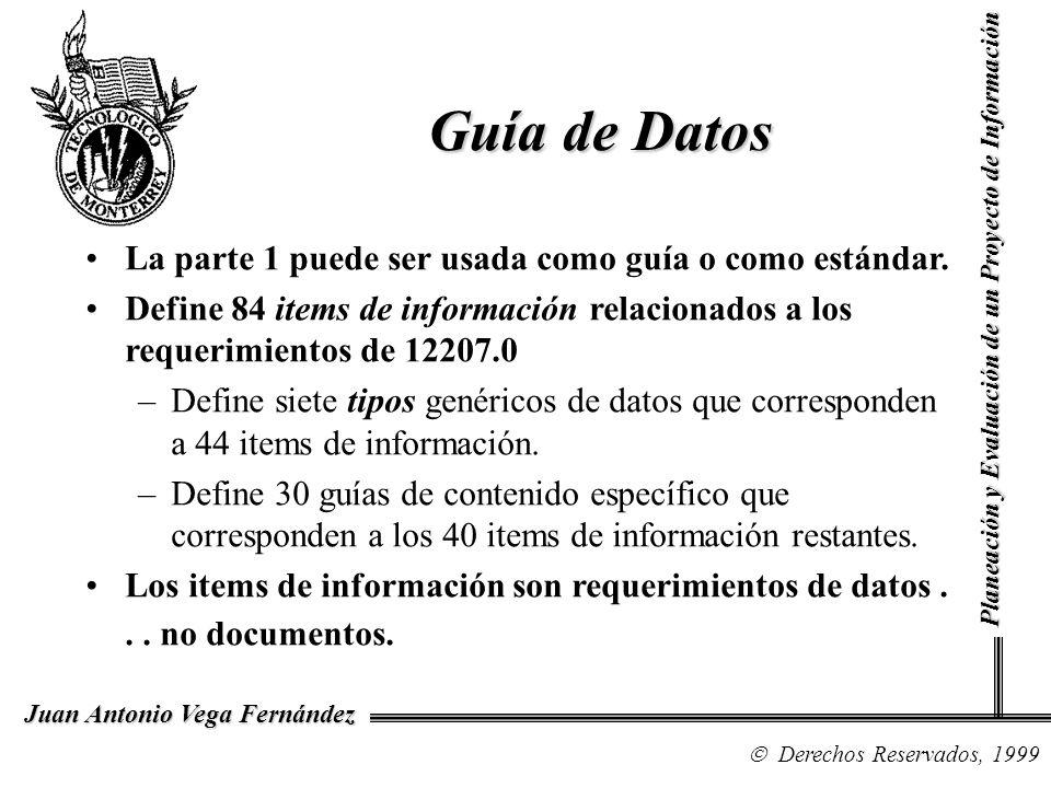 Guía de Datos La parte 1 puede ser usada como guía o como estándar.