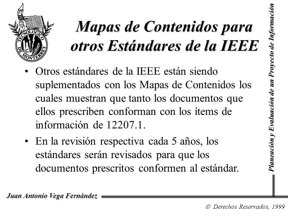 Mapas de Contenidos para otros Estándares de la IEEE