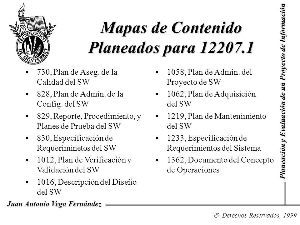 Mapas de Contenido Planeados para 12207.1
