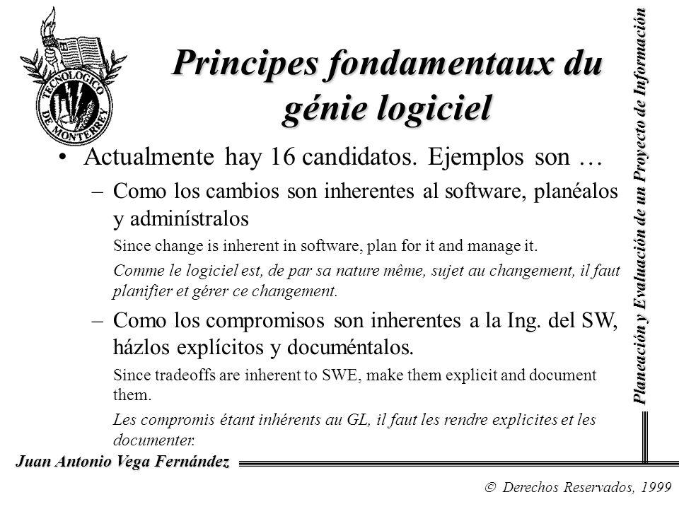 Principes fondamentaux du génie logiciel