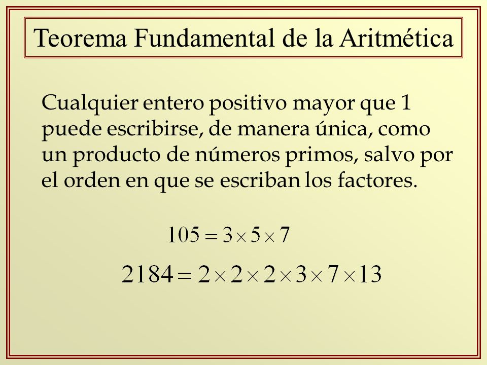 Teorema Fundamental de la Aritmética