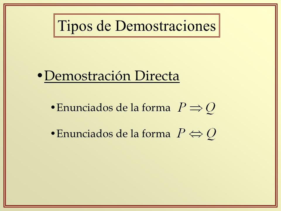 Tipos de Demostraciones
