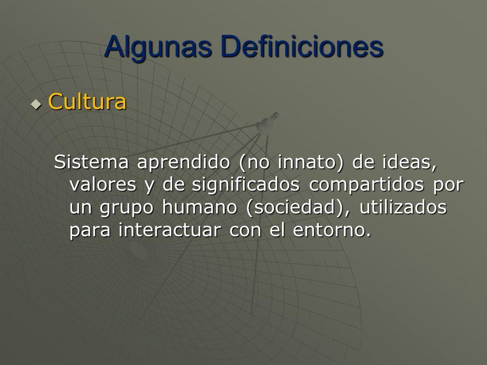 Algunas Definiciones Cultura