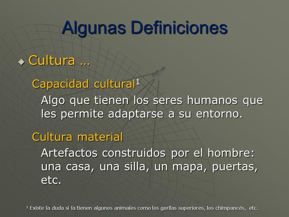 Algunas Definiciones Cultura … Capacidad cultural1
