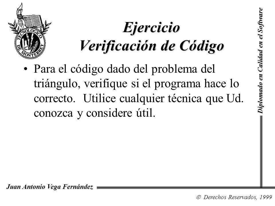 Ejercicio Verificación de Código
