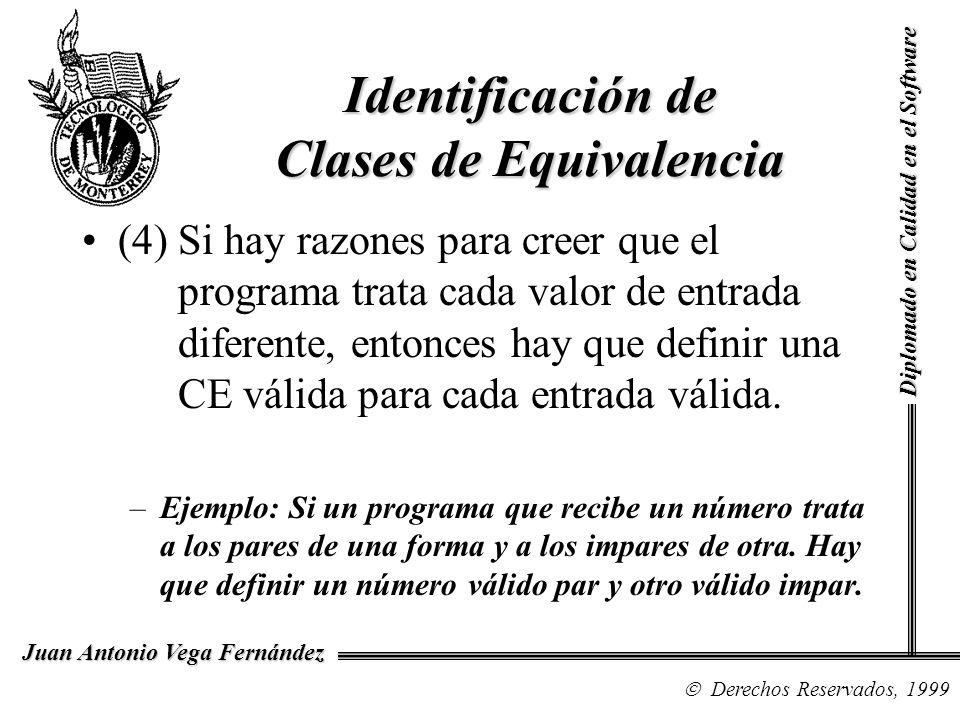 Identificación de Clases de Equivalencia
