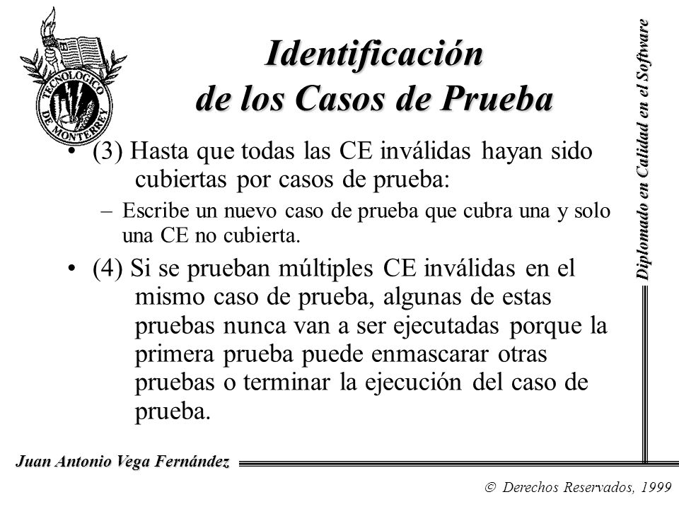 Identificación de los Casos de Prueba
