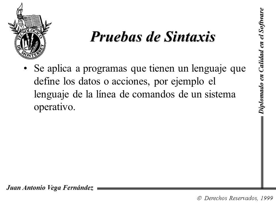 Pruebas de Sintaxis Diplomado en Calidad en el Software.