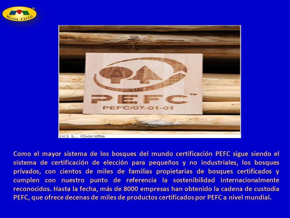 Como el mayor sistema de los bosques del mundo certificación PEFC sigue siendo el sistema de certificación de elección para pequeños y no industriales, los bosques privados, con cientos de miles de familias propietarias de bosques certificados y cumplen con nuestro punto de referencia la sostenibilidad internacionalmente reconocidos.