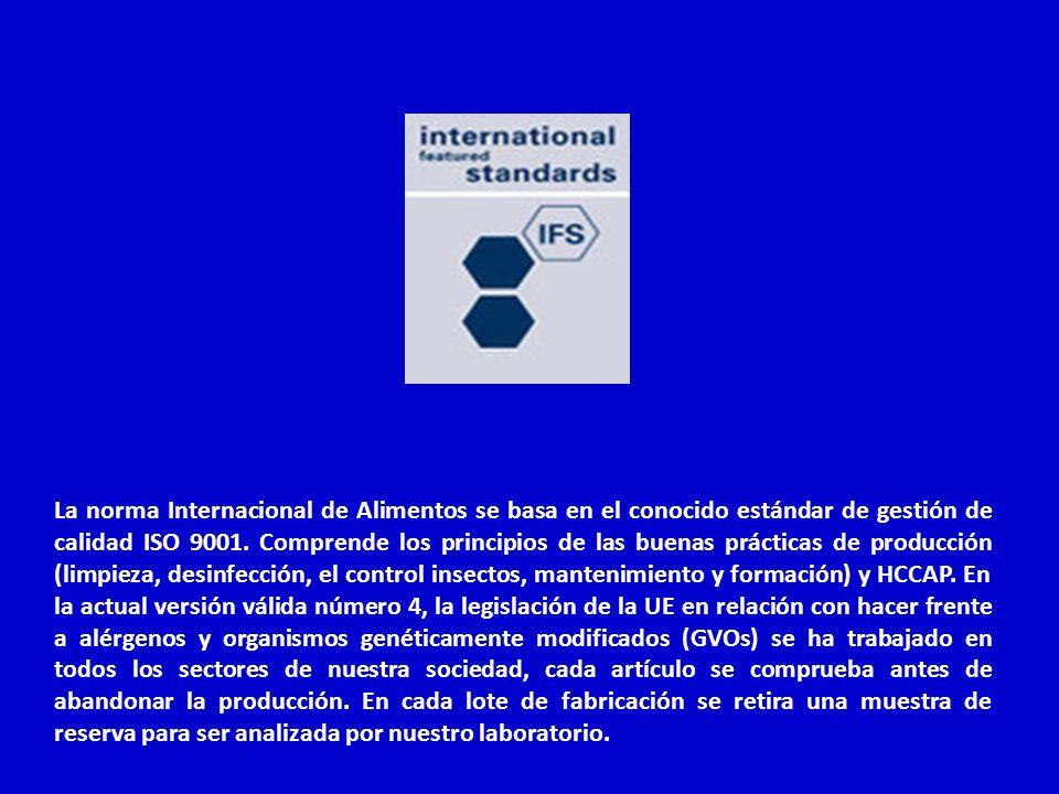 La norma Internacional de Alimentos se basa en el conocido estándar de gestión de calidad ISO 9001.