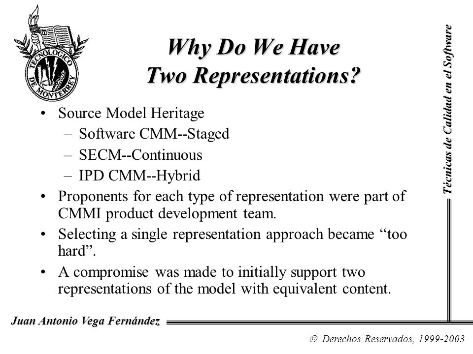 Why Do We Have Two Representations