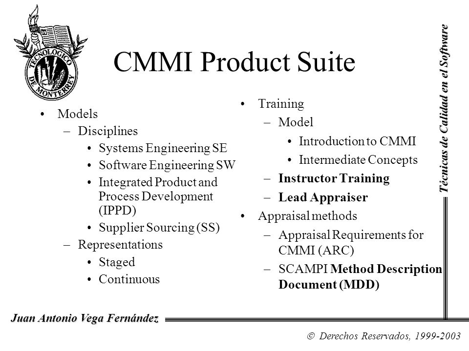 CMMI Product Suite Training Model Models Introduction to CMMI
